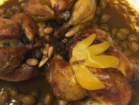 Kip op Marokkaanse wijze met olijven en een ingelegde citroen
