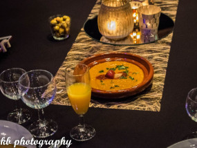 Marokkaanse tapenade gemaakt van courgette en aubergine